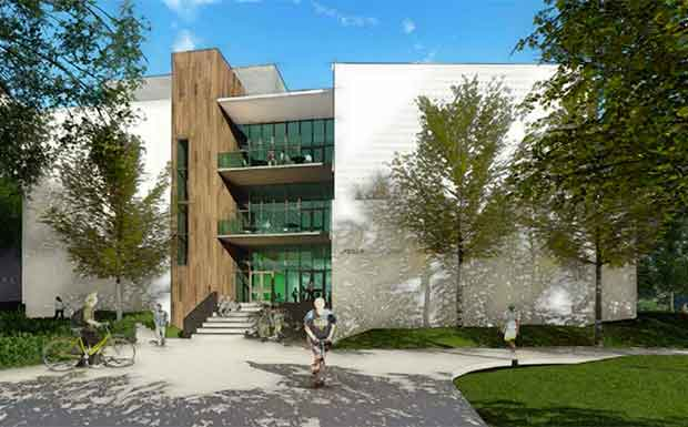 rendering of the new Life Sciences building