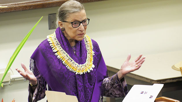 Manoa Law Justice Ginsburg F