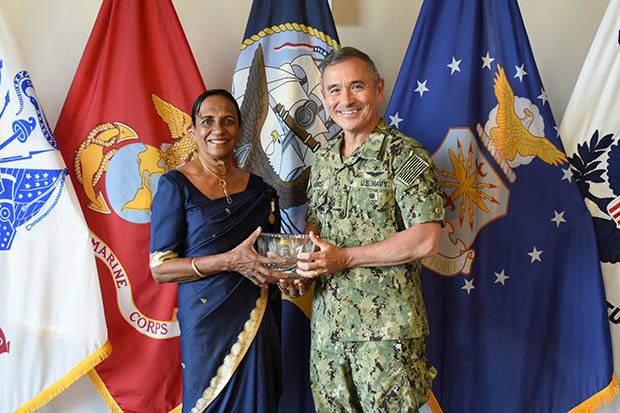 Kusuma Cooray with Admiral Harry Harris