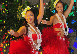 UH Manoa Tahitian dancers
