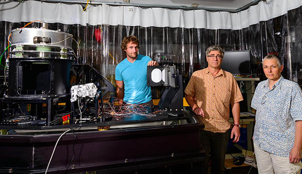 Hawaiʻi-built infrared instrument for world's largest solar telescope catches first rays