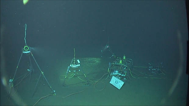 Scientific equipment underwater