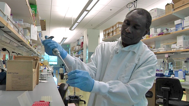 Turkson Working In A Lab