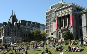 Lawn and buildings of McGill University