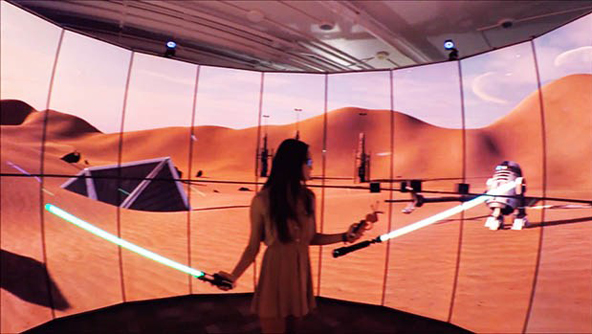 Students Create Star Wars Simulation On World's Best Hybrid Visualization System