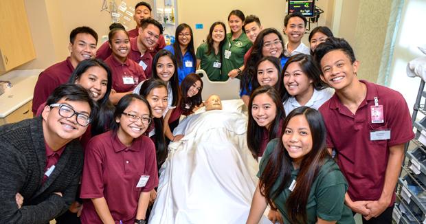 Farrington High School Health Academy students at sim center