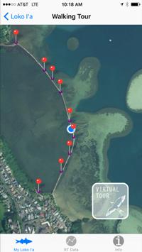 GPS enabled walking tour