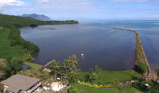 A community event at Kaneohe Bay