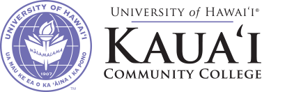 Kauai Community College seal and nameplate