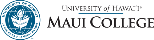 Maui College seal and nameplate