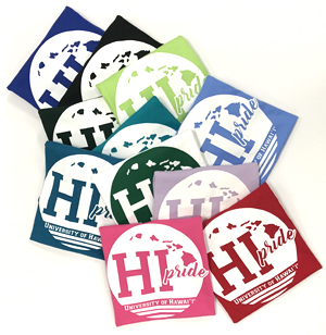 Sample of HI Pride t-shirt colors