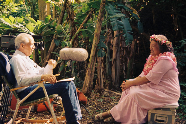 Eddie Kamae interviewing Hawaiian language Professor Rubellite