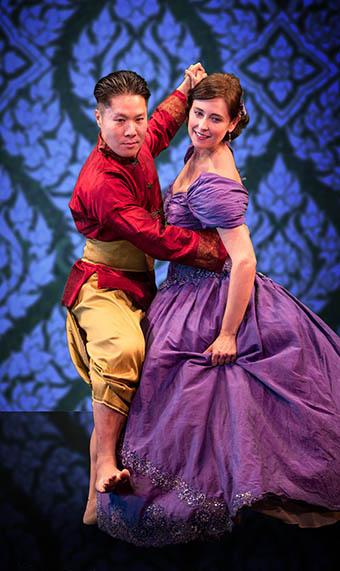 Michael Ng and Kathleen Stuart as the King and Anna