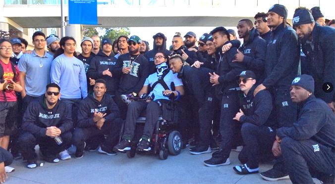 Rainbow Warriors Visit Injured Teammate Kalepo Naotala