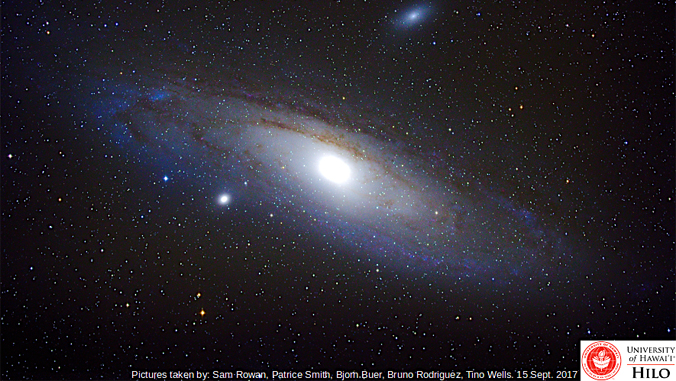 Andromeda photo with UH Hilo photo credit