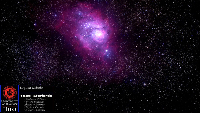 Lagoon Nebula photo with UH Hilo photo credit