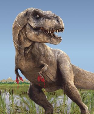 Artist drawing of a T. rex