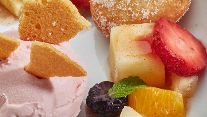 A fruity dessert