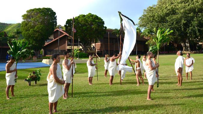 Traditional Native Hawaiian ceremony