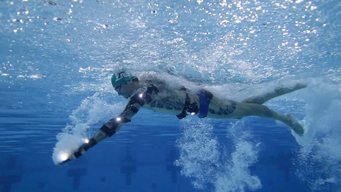 Olympic swimming gold medalist studied by College of Education laboratory