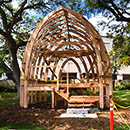 Framework for the full-sized albizia house