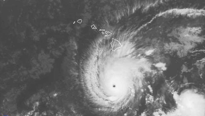 photo of Hurricane Lane near Hawaii