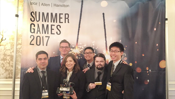 student interns for Booz Allen Summer Games