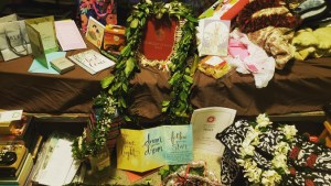 lei and cards for graduation