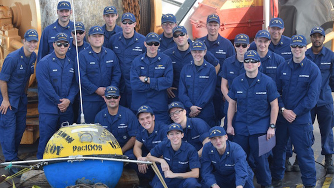 The crew of the U.S. Coast Guard Cutter Sequoia.