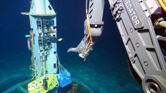 Mechanism on the ocean floor.