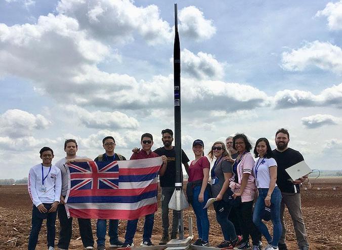 UH Project Imua rocketry team wins NASA rookie award