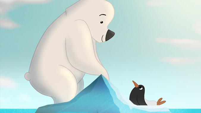 Polar bear and bird from Polar Opposites