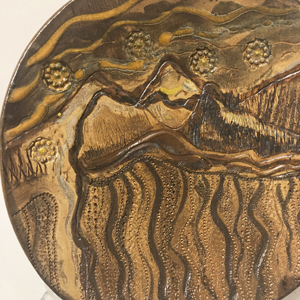 in the desert image on stoneware