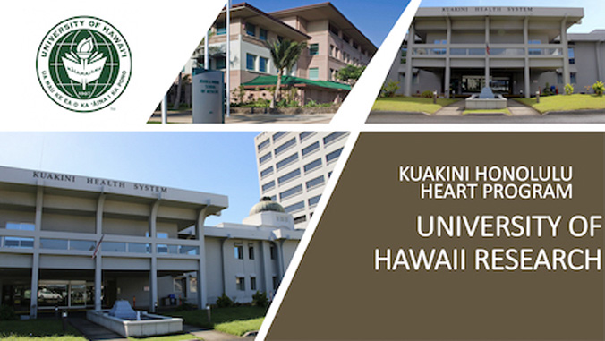 banner of kuakini honolulu heart program and university of hawaii research