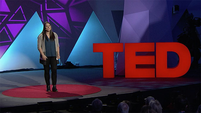 angel white presenting at TED