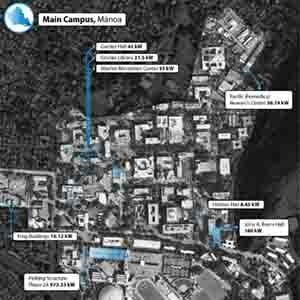 UH Mānoa Main Campus PV Map