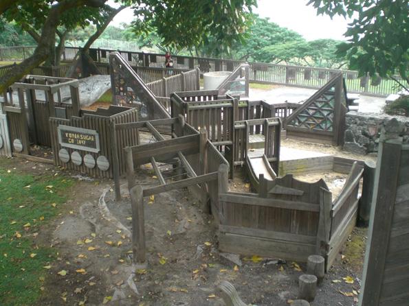 Kamakana Children's Playground wooden equipment will be replaced. (Photo courtesy of Cliff Kopp)