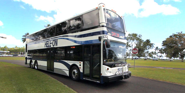 Hele-On double decker bus. Photo by Baron Sekiya   Hawaii 24/7
