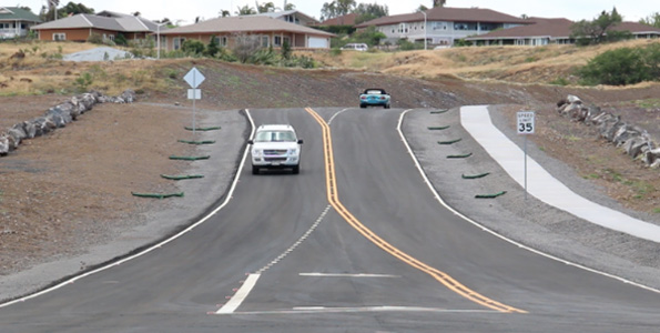 Paniolo Avenue extension in Waikoloa. (Photo courtesy of Hawaii County)