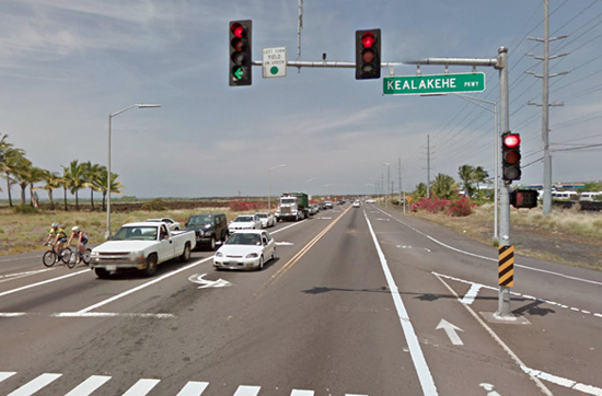 Queen Kaahumanu Highway (Photo courtesy of Governor's Office)