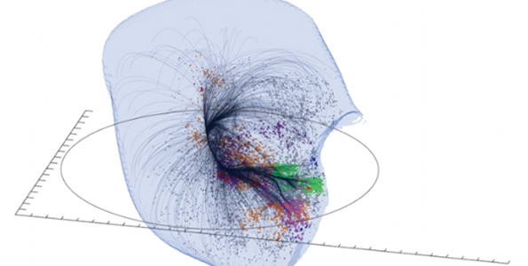 Laniakea Supercluster (Image courtesy of SDVision Interactive Visualization Software by DP at CEA | Saclay, France)