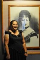 Denyse Woo-Ockerman portrays Queen Emma. Photo courtesy of Moki Hino