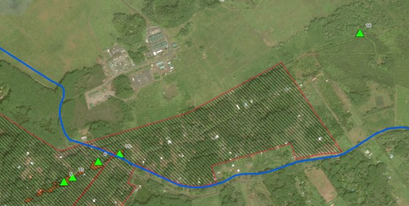 Location of Fissure 16 located East of Puna Geothermal Venture. Map via Hawaii County Civil Defense.