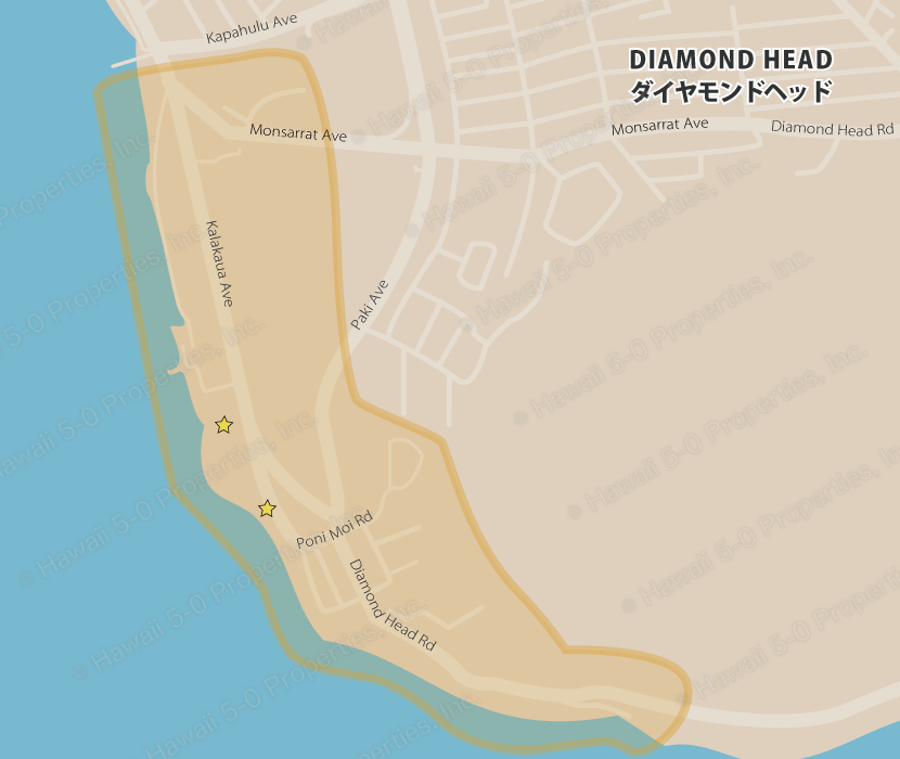 Condo-pedia Daiamond Head map