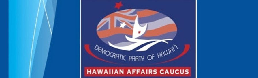 Hawaiian Affairs Caucus banner