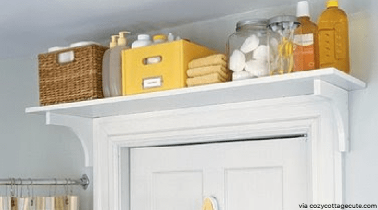 Small bathroom? Try one of these space-saving hacks.