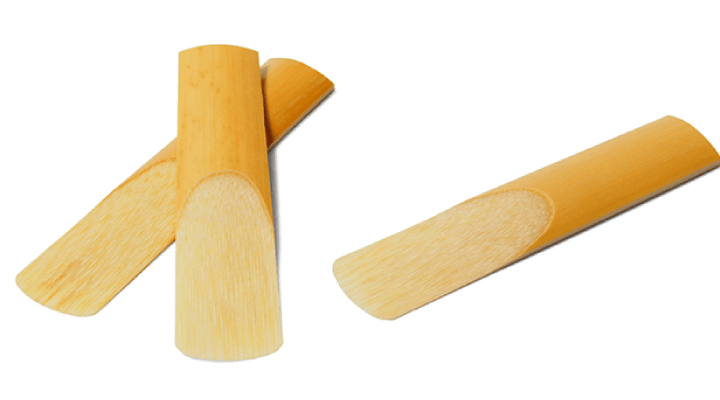 Reeds for woodwind instruments are flat pieces of natural or synthetic wood. They are inserted into the mouth piece of all woodwind instruments except the flute.