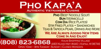 kapaa vegetarian & Kauai vegetarian restaurants