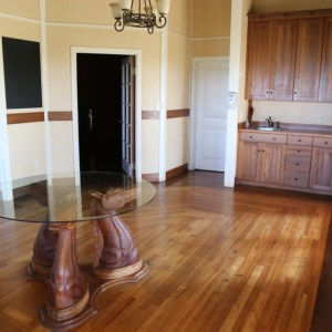 Ranch house interior with horsehead table