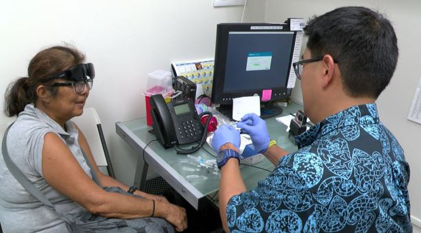 These days, Jeanette Serikaku heads to a clinic for a shot to keep her schizophrenia in check. She's undergone a stunning transformation since going on the medication. (Image: Hawaii News Now)